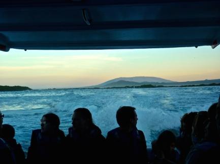 Boat back to Sta Cruz