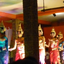 A rubbish photo of traditional Cambodian dancing