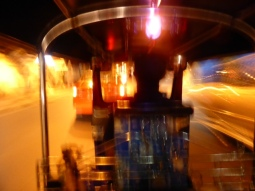 REALLY blurry picture of out first Tuk Tuk